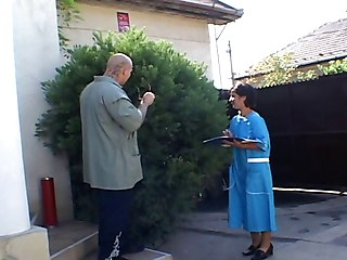 Horny Granny Opening Her Hairy Pussy...usb