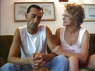 Italian Old Mom Abused