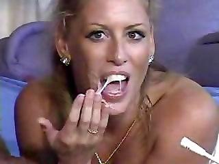 Hot Milf Loves Eating Cum