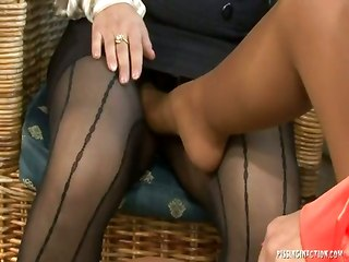 Pantyhose And Stockings Orgy