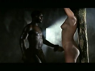 Cynthia Van Damme Interracial Softcore With African Tribesman