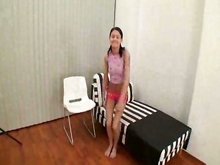 Teen Asshole Drilling With Hard Pole